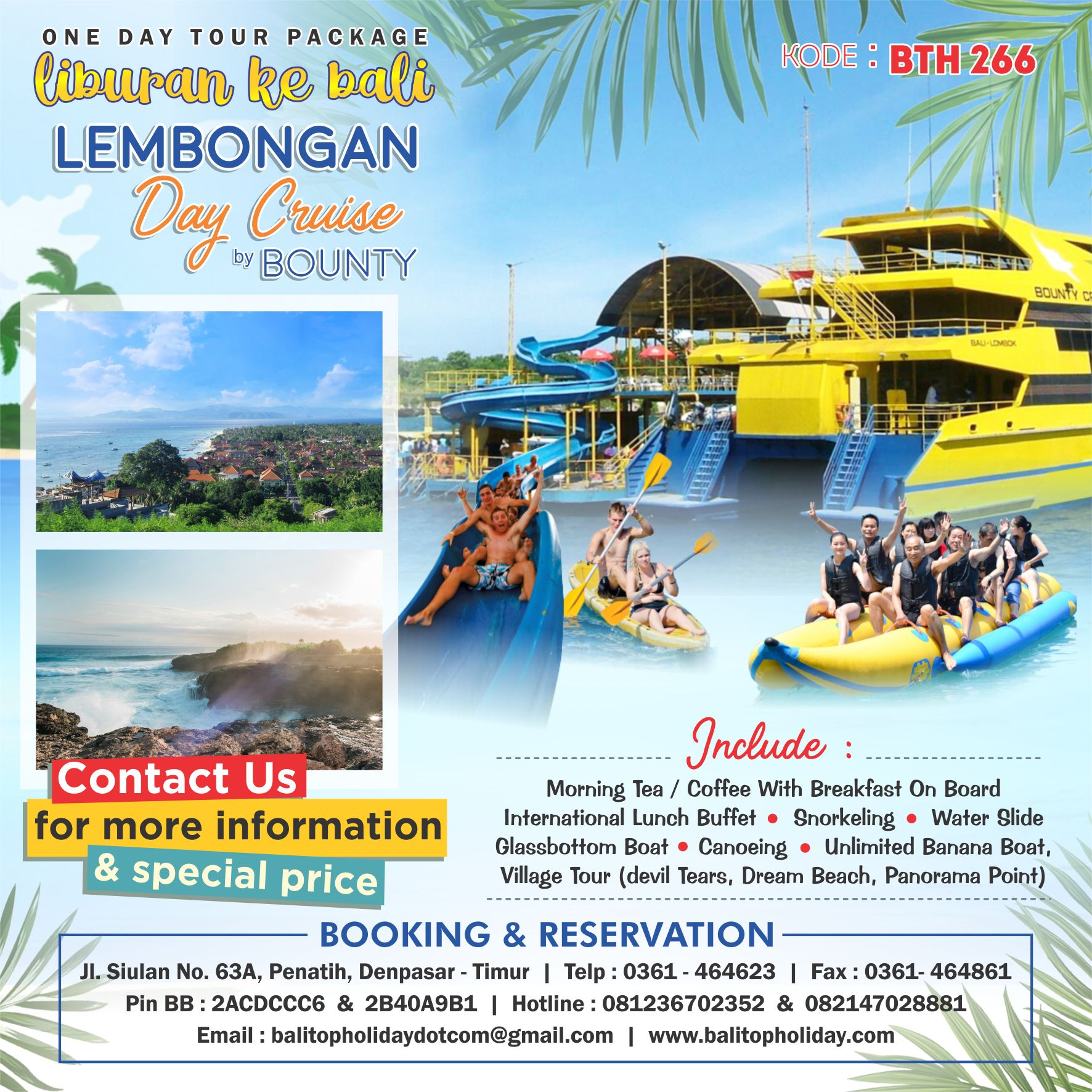 Lembongan Day Cruise by Bounty