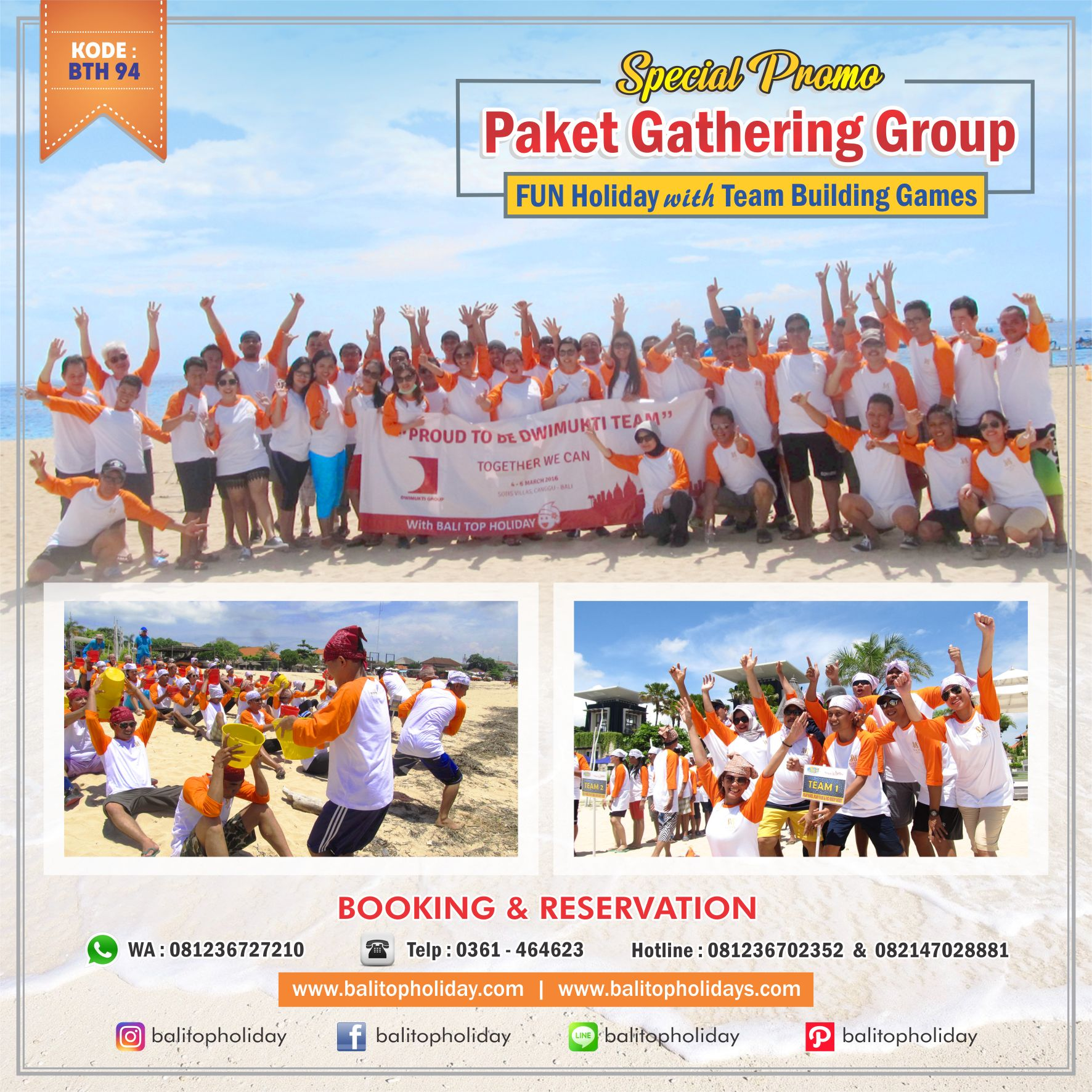 Paket Group Gathering One Day Tour