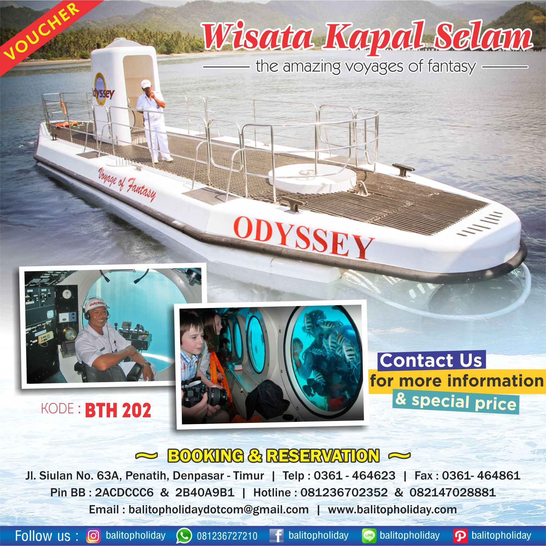 voucher odyssey submarine