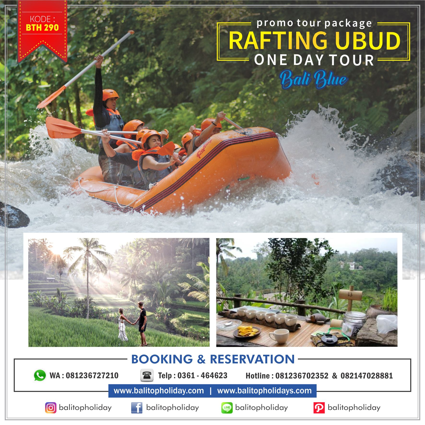 rafting ubud One Day Tour