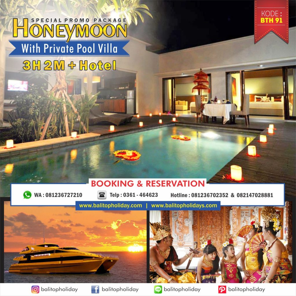 Paket Honeymoon Bali Private Pool Villa