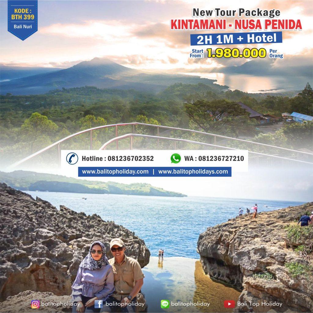 Paket Tour Bali 2 hari 1 malam kintamani nusa penida