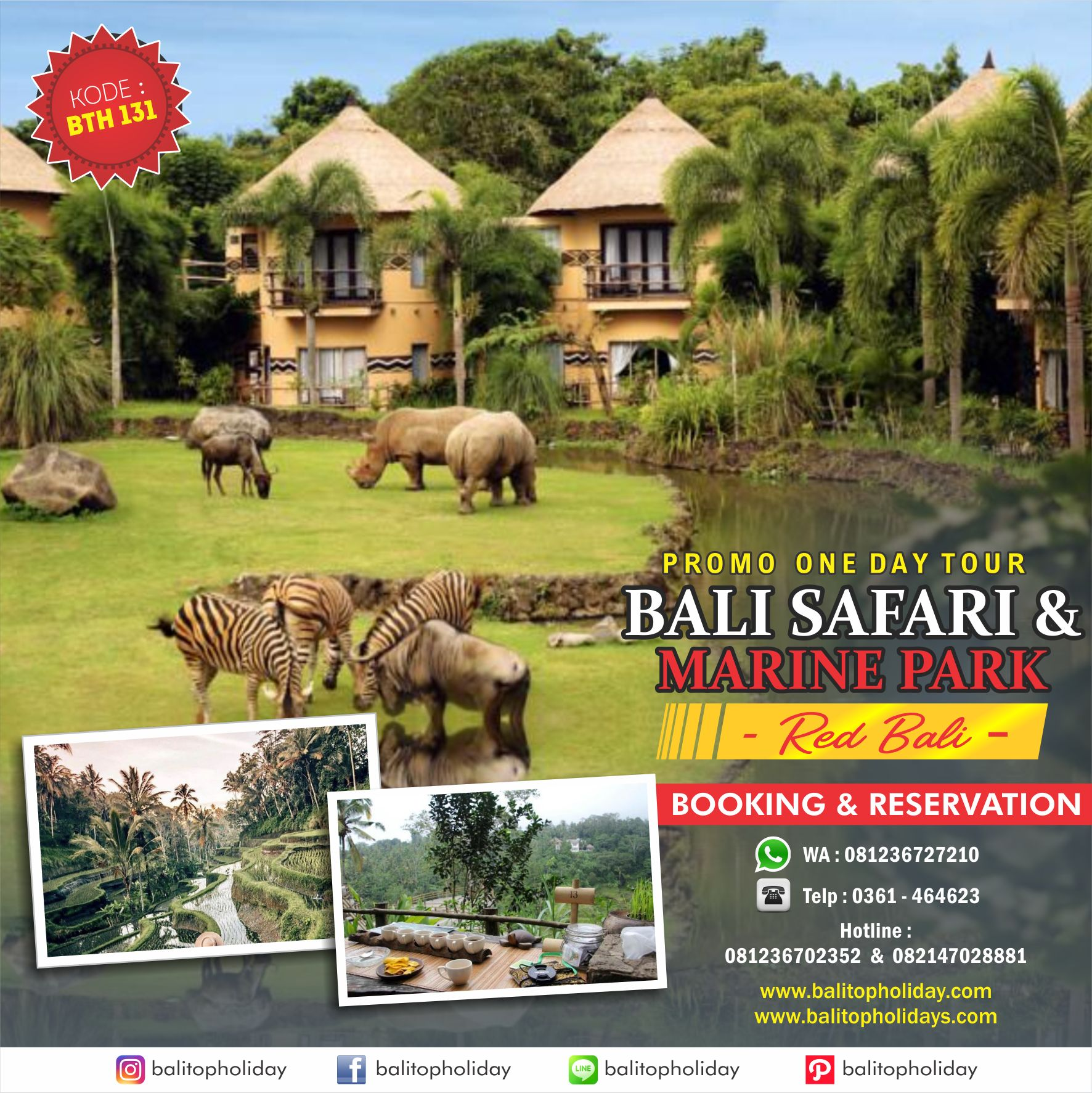BALI SAFARI ONE DAY TOUR