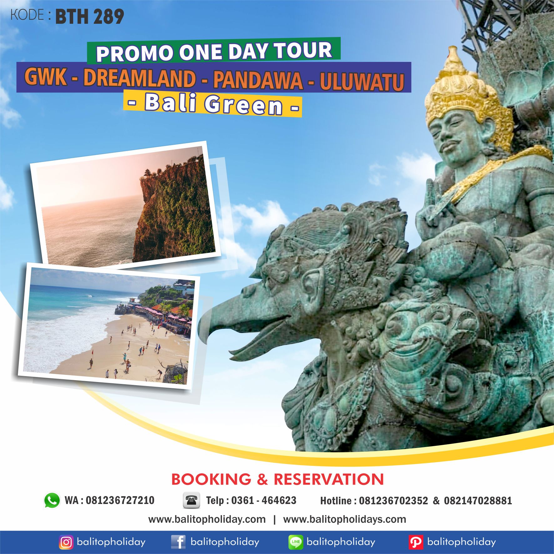 Paket Tour Bali 1 GWK One Day Tour