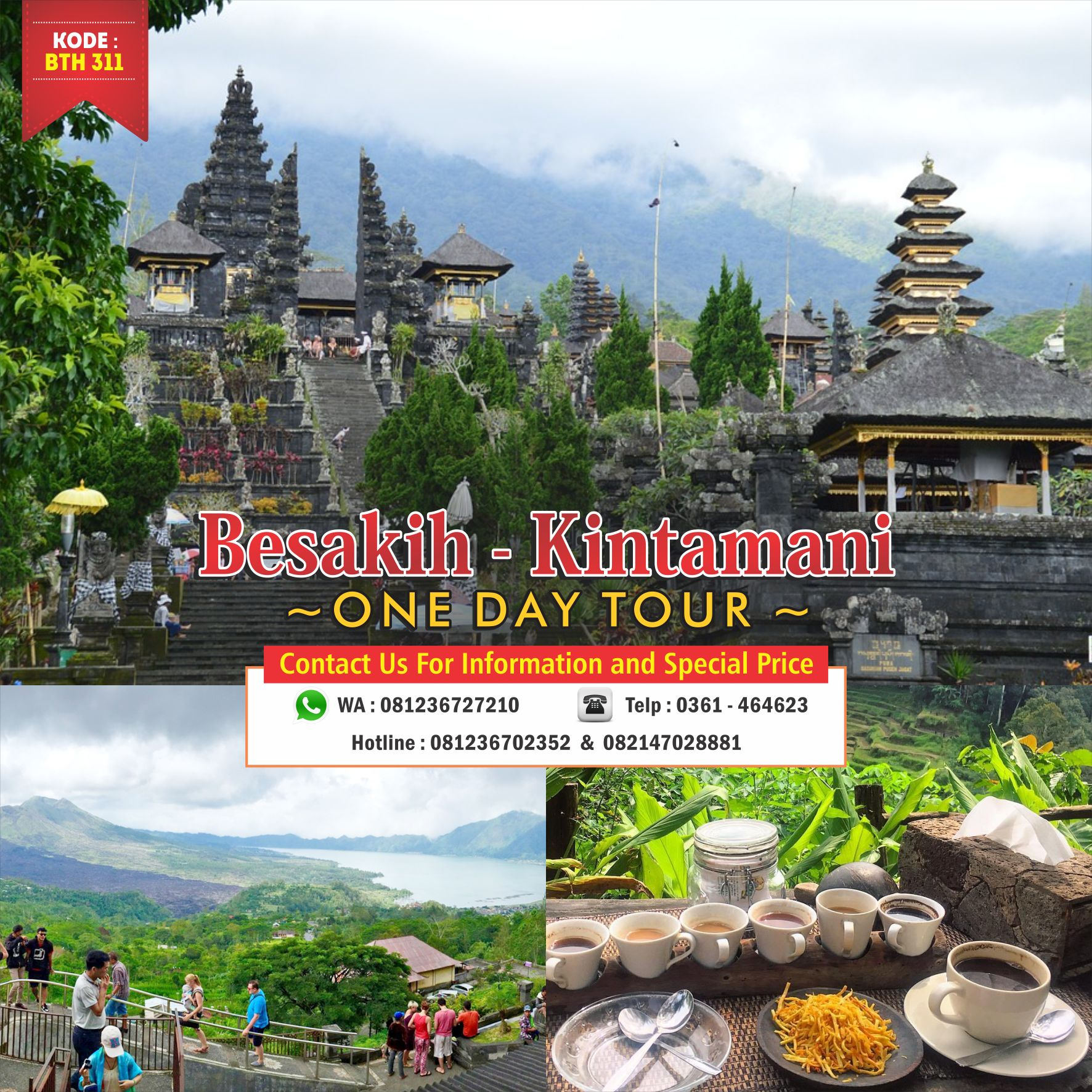Besakih Kintamani One Day Tour