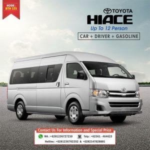 bali van charter Toyota Hiace