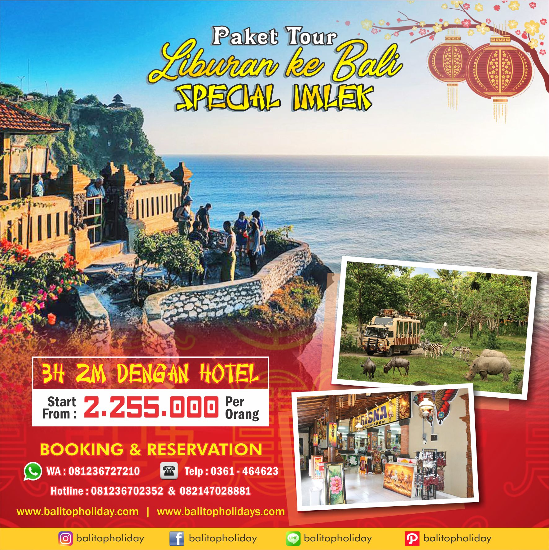 Paket Tour Imlek 3H 2M (Standard) start from