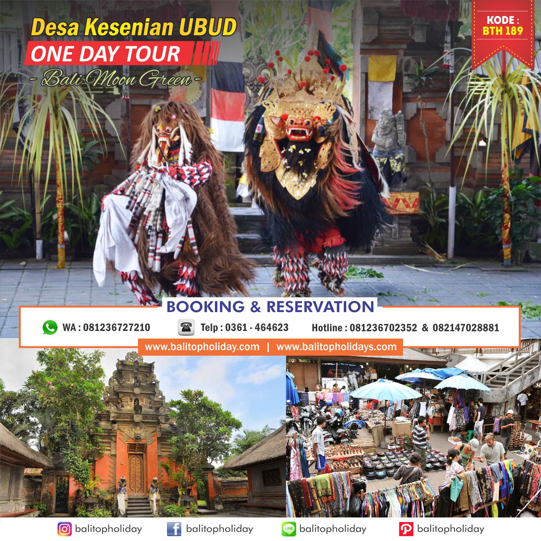 Desa Kesenian Ubud One Day Tour BTH 189 Bali Moon Green