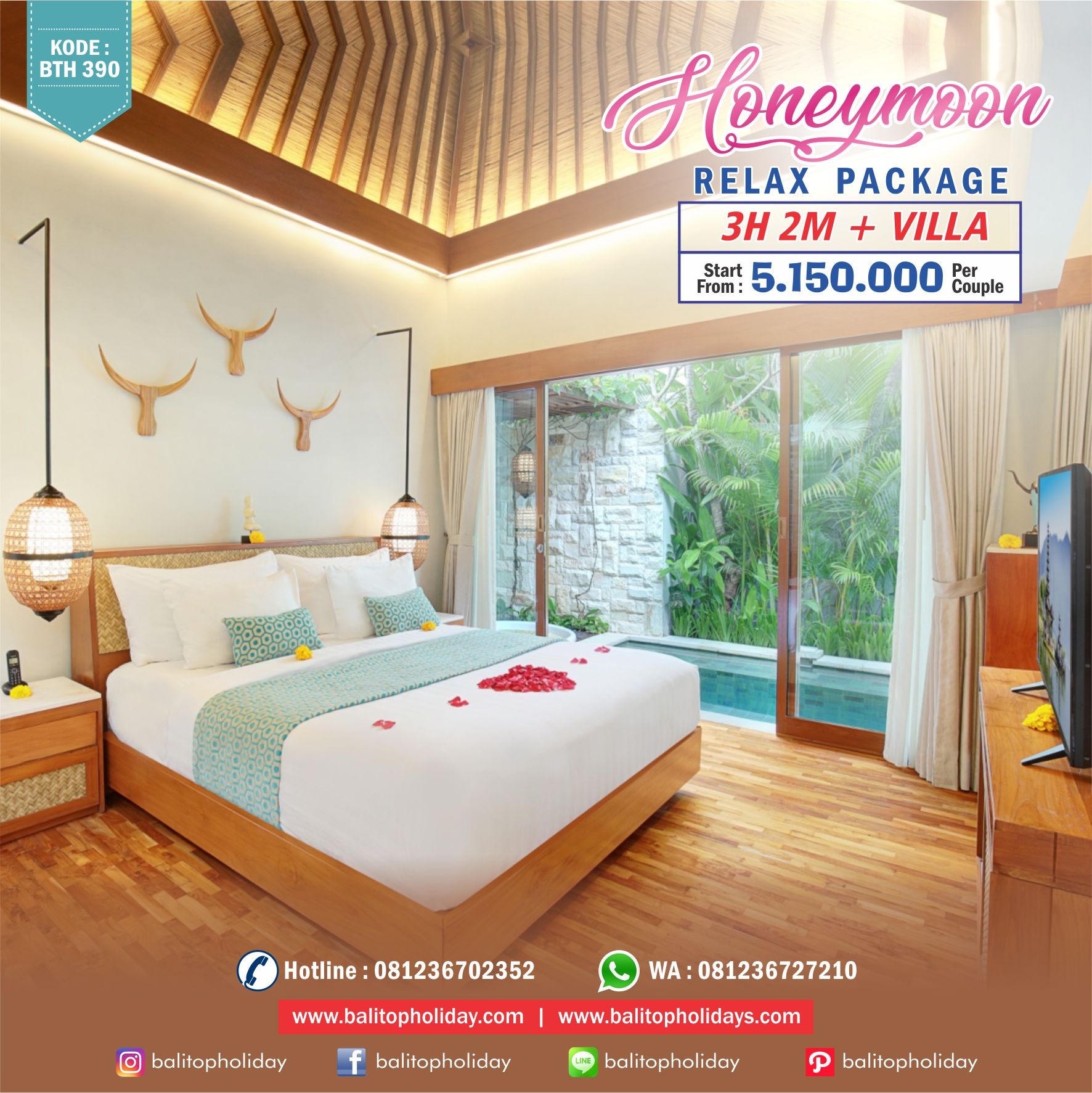 Honeymoon Relax Package Rute Santai 3H 2M BTH 390 (balitopholiday) (1)