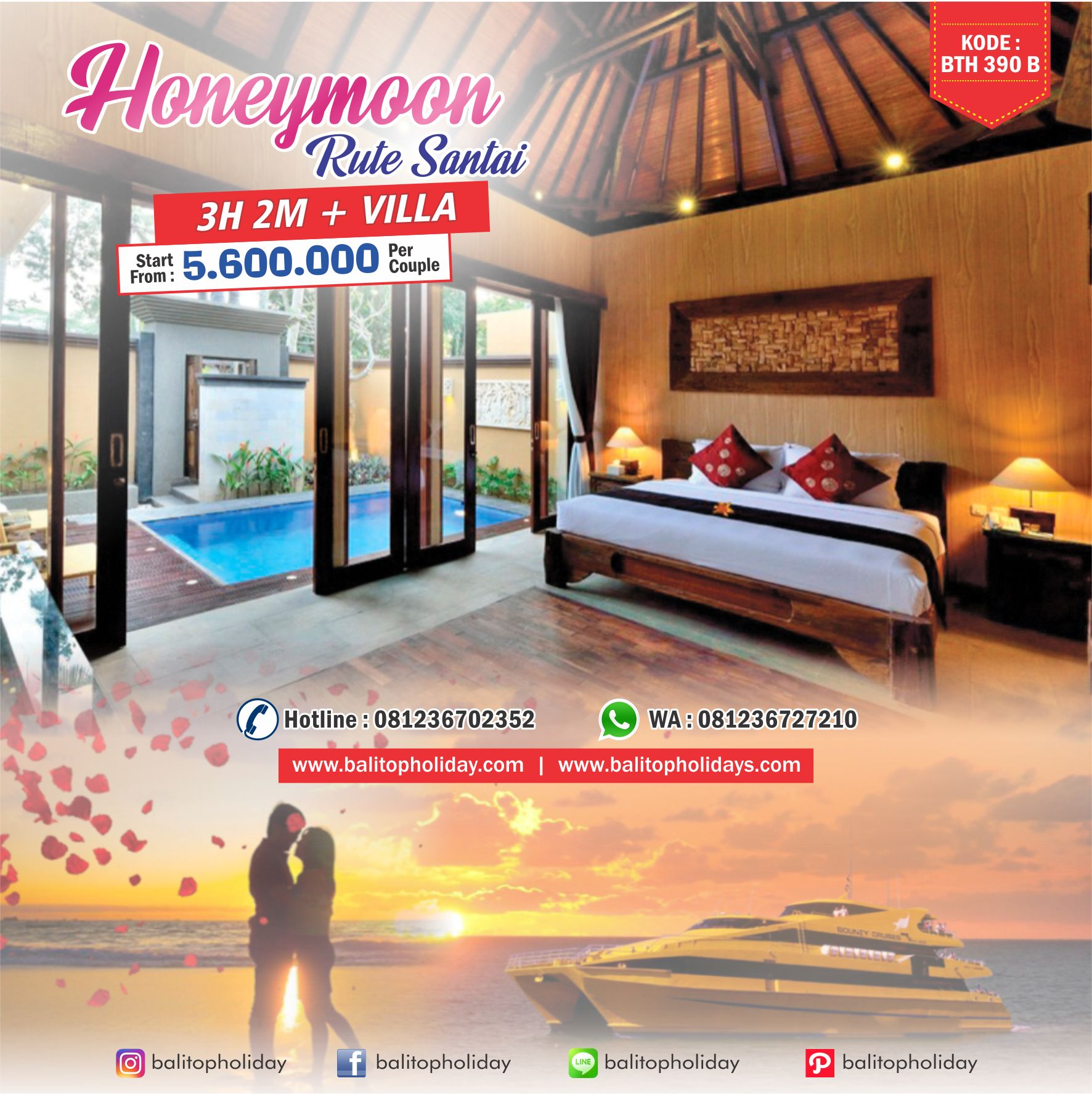 PAKET HONEYMOON BALI VILLA
